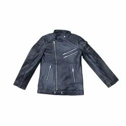Full Sleeve Casual Wear Mens Leather Motorcycle Jacket, Size: S- XXL