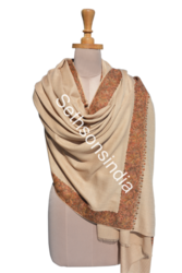 Natural Sethsons India Embroidery Shawls, Packaging Type: Poly-bag