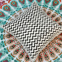Zigzag Printed Cushion Cover