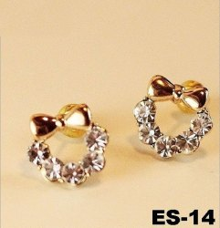 Golden Party Wear Geomatric Fashionable Antique Earrings