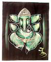 Lord Krishna Batik Velvet Indian Handicrafts  Wall Hanging
