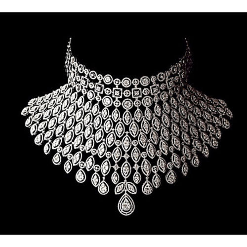Real Diamond Necklace At Rs 1200000 Piece Diamond Necklace Id