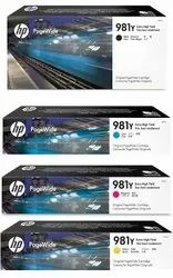 HP 981Y Original PageWide Cartridge 4-Color Set, HP L0R16A, L0R13A, L0R14A, L0R15A