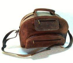 Distressed Leather Traveler Bag