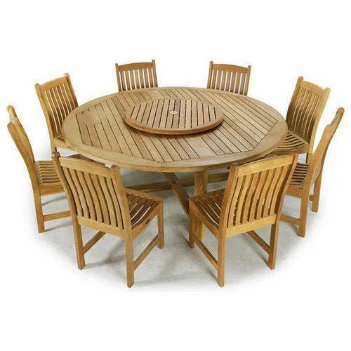 Teak Wood Dining Table Set