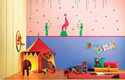 Multicolor Asian Paints Fun At The Circus Glow Theme Wall Stickers