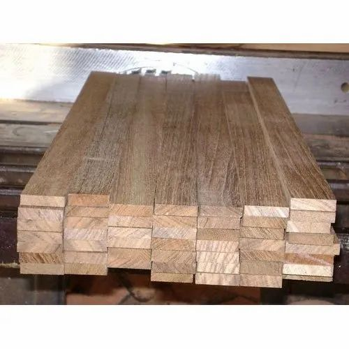 Brown African Teak Wood Plank for Making Furniture
