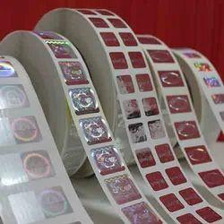 Flexo Smooth Holographic Labels, Rectangular