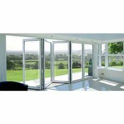 White Aluminium Upvc Folding Door, For Home