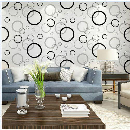 Vinyl Living Room Wallpaper, Shape: Horizontal, Rs 45