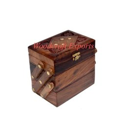 Rectangular Brown Wooden Jewelry Box, Packaging Type: Packet, Size/Dimension: 14.4x9.5x12.3 Cm