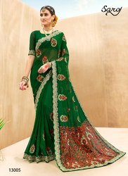 party wear Stylish Georgette Saree