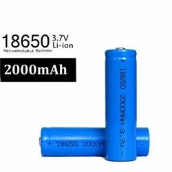 Imported 2000mAh 3.7v Li-ion Rechargeable Lion Battery, Model Name/Number: 18650, Battery Capacity: 2000 Mah