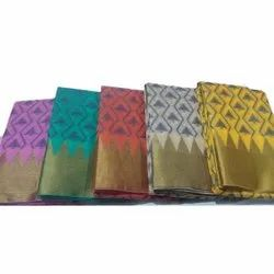 Formal Wear Ladies Cotton Embroidery Work Saree, Packaging Type: Box, 5.5 m (separate blouse piece)