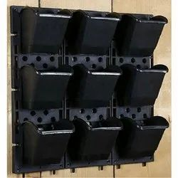 Black Vertical Plastic Pot