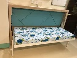 Horizontal Single Wall Bed With Leg