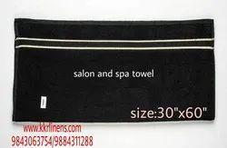 Black Plain Salon Towel, 450-550 GSM, Size: 30