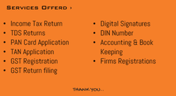 Income Tax Consultant Services
