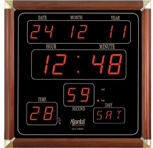 New Ajanta Digital Wall Clock, Seconds Incorporation | ID