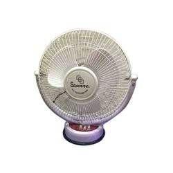 Square Metal White Table Fan