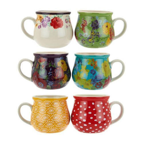 Multicolor 6 Piece Ceramic Cup Set, for Interior Decor