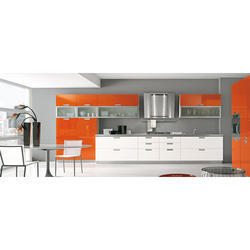 Gloss Finish Modular Kitchen