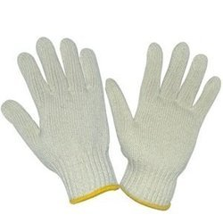 Atlas Cotton White 40 gram Knitted Gloves