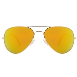 Golden Red Mercury Aviator Sun Goggles