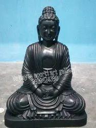 Black Marble Stone Buddha Statue