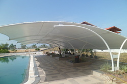 PVC And Polyester Fabric Tensile Structures