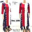 Multicolour Fancy Printed Kurti