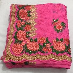 Georgette With Heavy Embroidered Saree
