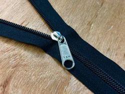 Black Nylon Coil Zipper