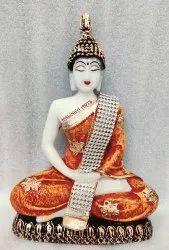 White Resin Buddha