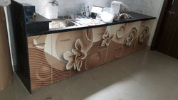 Printed Wooden Modular Kitchen