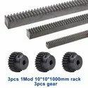 Rack & Pinion 1 Module High Precision Gear 10x10x1000mm 1M 17teeth,15tooth,16tooth pinion
