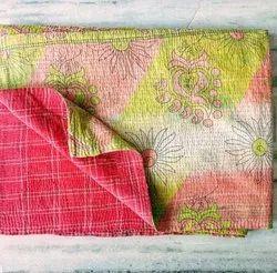 Floral Vintage Kantha Quilt