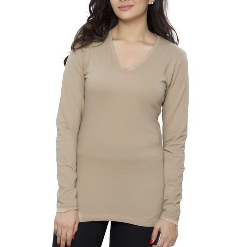 743afdaab170 Light Brown Women's Basic T Shirt, Rs 349 /piece, Clifton Trends ...