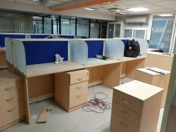 Idecor Cream Wooden Office Furniture