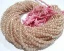 Natural Rose Quartz Round Faceted Size 3-4mm Beads Strand 13 Inches.
