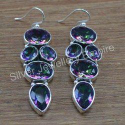 925 Sterling Silver Handmade Jewelry Mystic Topaz Gemstone