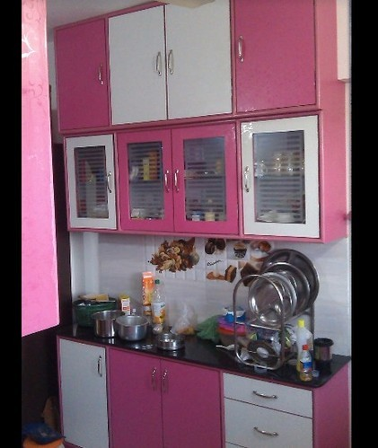 Men Jean Read More Pink White Modular Kitchen