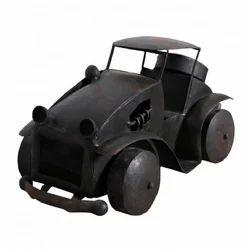 Artisans Rose Road Trippin Black Vintage Iron Car Toy