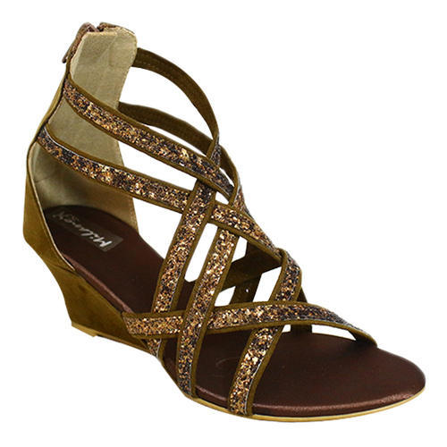 324c4bfe3ae Milano Women Brown Gladiator Wedges Sandals