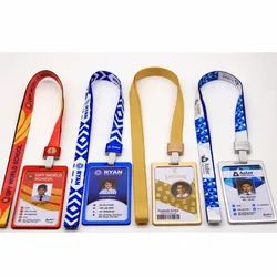 PVC ID Card With Aluminium Holder And 16 mm Multicolored Lanyard ( Lace, Dori )
