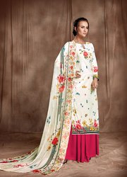 PR Fashion Launched Beautiful Floral Digital Printed Sharara Style Salwar Suit