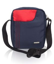 Navy Blue & Red Sling Bag for Men