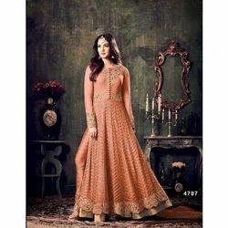 Cotton Orange Salwar Suit, Size: S, M and L