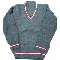 Full Sleeve V Neck School Sweater