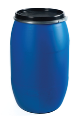 Blue Single 200 LTR FULL OPEN TOP CONAINER, Capacity: 0-50 litres, Packaging Type: Powder,Paste